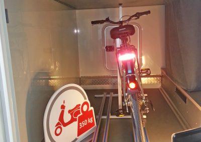 Carthago C-Tourer - Fahrradträger Pedi-Packer 2018 auf der CMT in Stutgart. Das Fahrzeug wurde uns von Carthago zur Verfügung gestellt.
