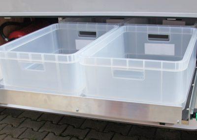 Unterflurauszug 105cm Länge für altes Modell Dethleffs  Globetrotter A 9000 mit Giesboxen 17,5cm Höhe