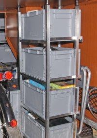 Hymer B678 Bj. 2012 Einzelner Tower mit versetztem Rahmensystem für 4 Auer-Boxen 40x30x22