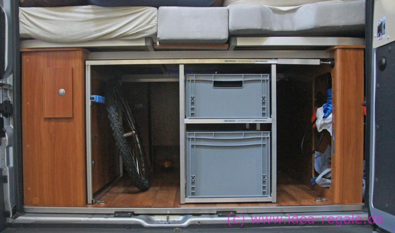 kastenwagen idea regale. Black Bedroom Furniture Sets. Home Design Ideas
