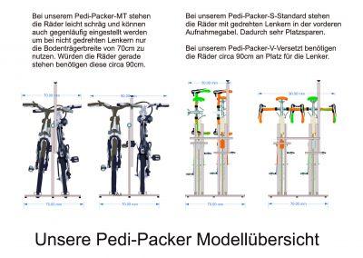 Pedi Packer Skizzen von Vorne