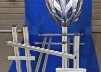 Pedi-Packer-V  mit Helmhalter. Helmhalter mit K
