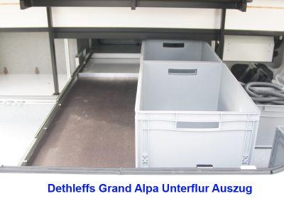 Dethleffs Grand Alpa Unterflur Auszug
