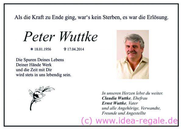 Peter Wuttke IDEA-SysTec und Touring24 verstorben