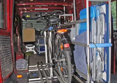 Vollauszug VW Bus 150cm lang mit Bodenverankerung