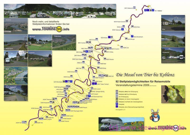 Mosel Stellplatzkarte von Touring24