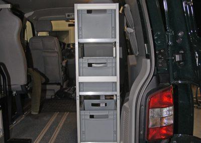 Befestigung an der Sitzschiene vom VW Rockton