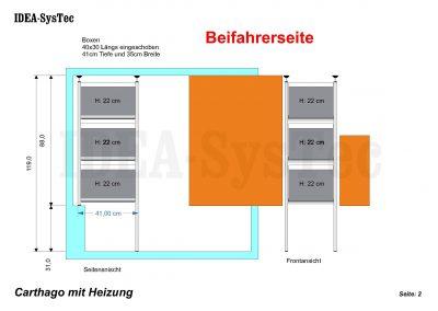 Regalsystem IDEA Kombination  41er Tiefe rechts vom Treppenaufgang