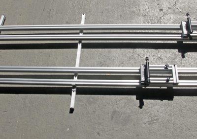 Pedi-Packer-K Kompact mit Schiebesystem. Der Schlitten läuft auf den Schienen.
