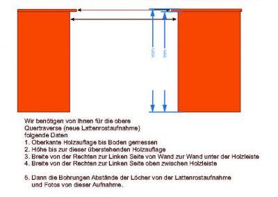Kastenwagen Doppelstock Maße Quertraverse und Aufnahme