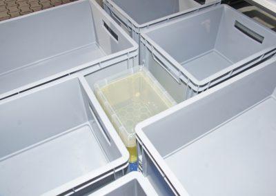 In der Mitte bleibt nur noch Platz für eine quadratische kleine Box.