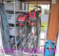 Regalsystem für Alu-Tec Boxen und Fahrradträger im Hymer-ML-T 580