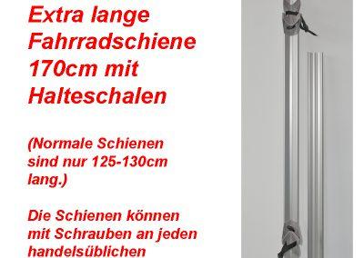 Alu-Line Fahradschiene Extra-Lang 170cm für Eura-Carry