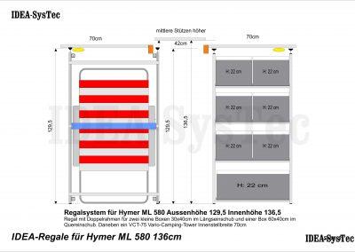 Hymer ML 580 Regalsystem und Campinggestell