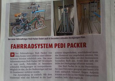 In der neusten Ausgabe 2 der Promobil berichtet der Redakteur über die Neuvorstellung von unserem Pedi-Packer-MT-50 auf der Messe CMT in Stuttgart.  Besten Dank