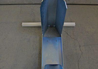 Beispiel vom 30er Querprofil für eine  Rollerwippe. Die Wippe liefern wir nicht mit. Diese bekommen Sie z.B. bei Anhänger Brandl. Link siehe unten