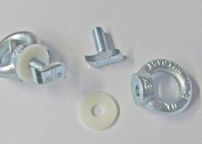 Hymer Halfen Schraube 4,6m Typ 28/15 M8x20 mit Zubehör Ringöse und Polyester-U-Scheibe