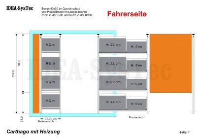 Regalsystem IDEA Kombination mit 31er links vom Treppenaufgang