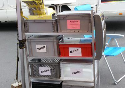 Boxen mit Euromaß der Marke Toom, Rako, Ringoplast, Clickbox, Obi und Alutec
