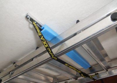 Leiteraufhängung mit 2x Schienen, Spannriemen und Befestigungsmaterial in den Breiten von 60cm oder 100cm