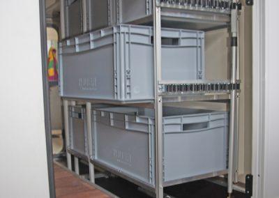Hymer Van Ti Regalsystem und Gerätehalter