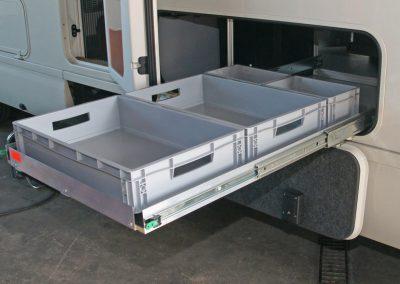 Morelo Heckgaragen Auszug  für 2x 60x40cm und 2x 20x30cm Boxen 75cm Breite, 100cm Länge