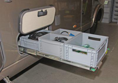 Hymer Duo2Mobil Schublade mit 120cm länge und 72cm Breite