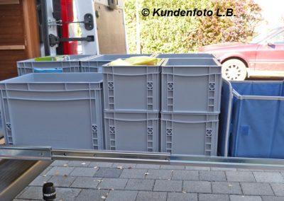 Kastenwagen Bodenauszug mit 120cm Länge und 100kg Lastwert