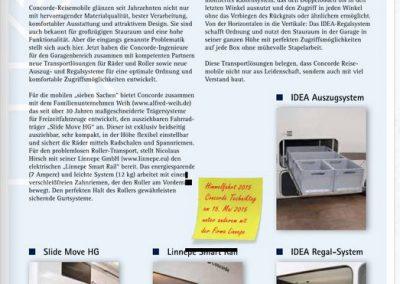 Concorde berichtet über unsere System in Ihrer Hauszeitung